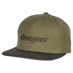 Deeper Snapback Cap with Camouflage Visor