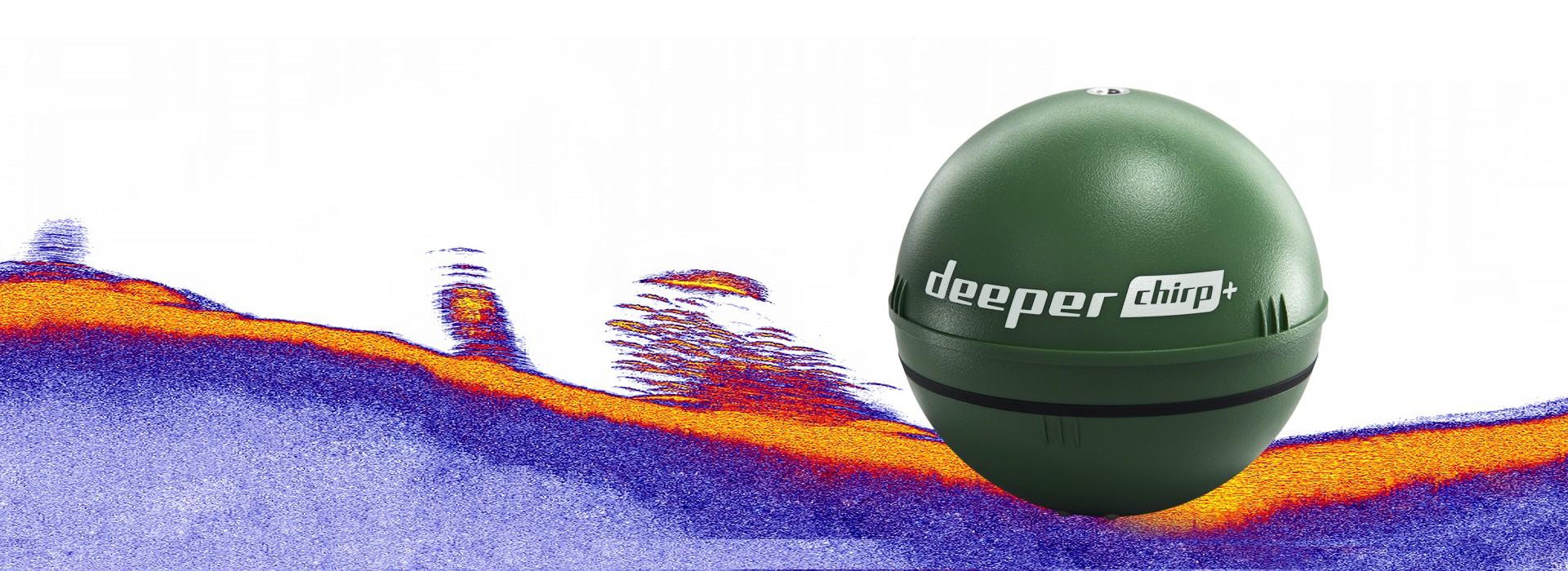 Fremtidens fiskeVerdens eneste kastbare CHIRP ekkolodd med innebygd GPS