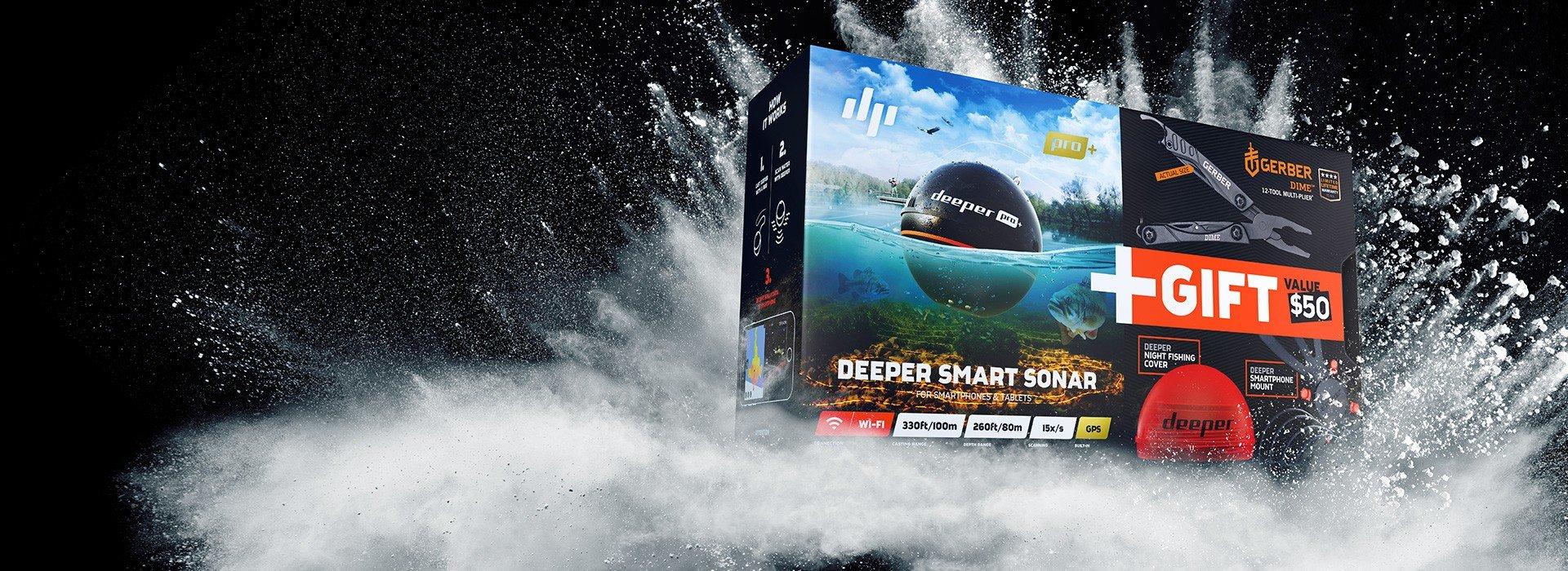 Deeper PRO+ スペシャルサービスセット今お使いの釣り具に加えておくと便利