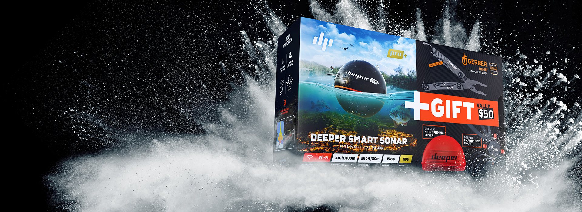 Deeper PRO+ SPECIAL OFFER BUNDLEPerfect Addition to Your Fishing Arsenal