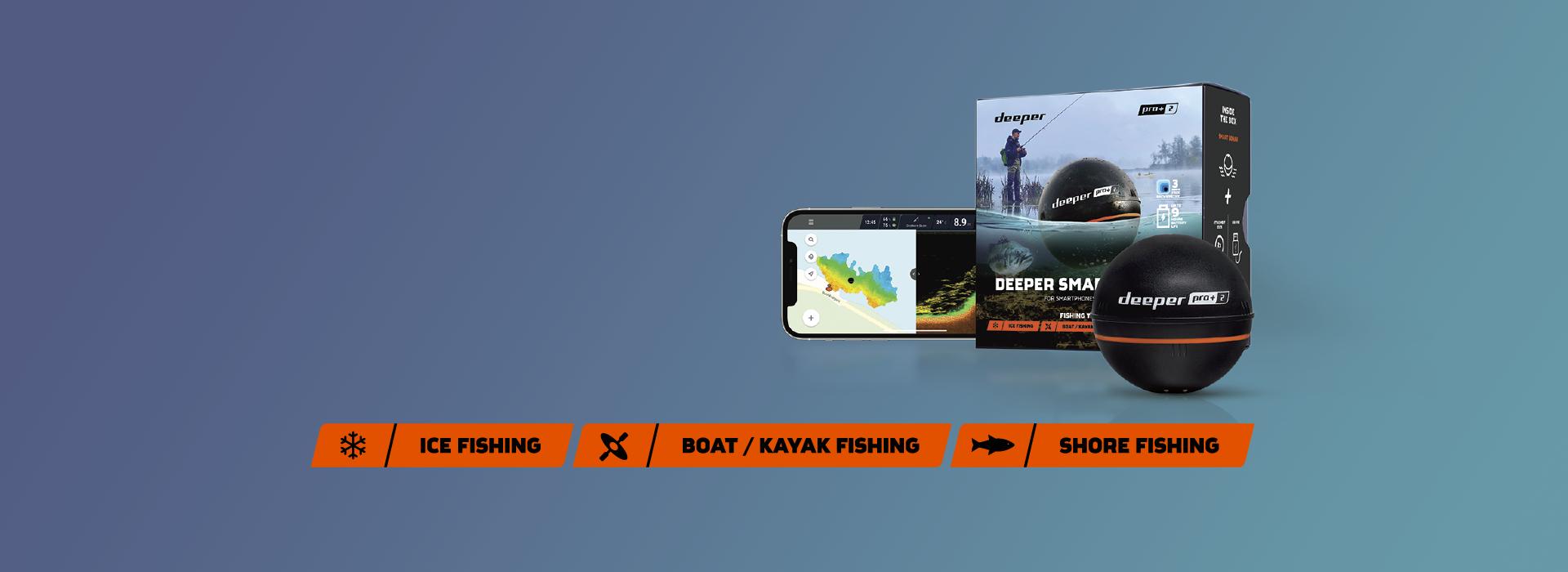 Nye Deeper PRO + 2! Elsket av sportsfiskere over hele verden.Nå forbedret og bedre enn noensinne.