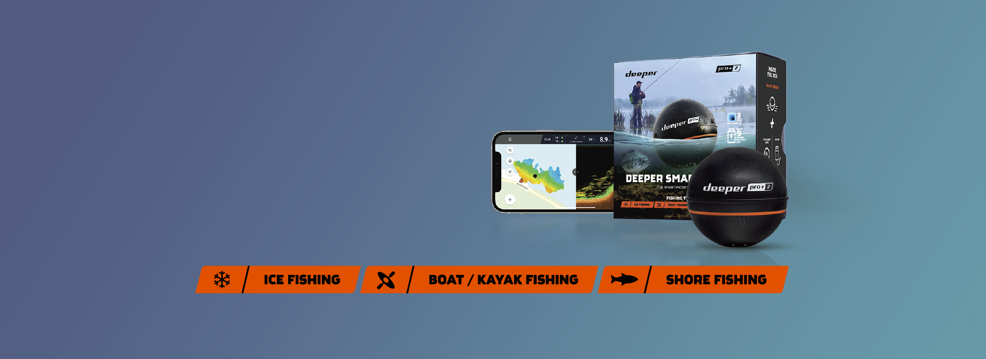 Новият Deeper PRO+ 2! Обичан от рибарите по цял свят.Сега подобрен и по-надежден от всякога.