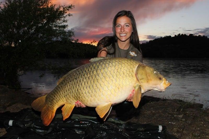 Mit Claudia Darga, Europas bekannteste Anglerin
