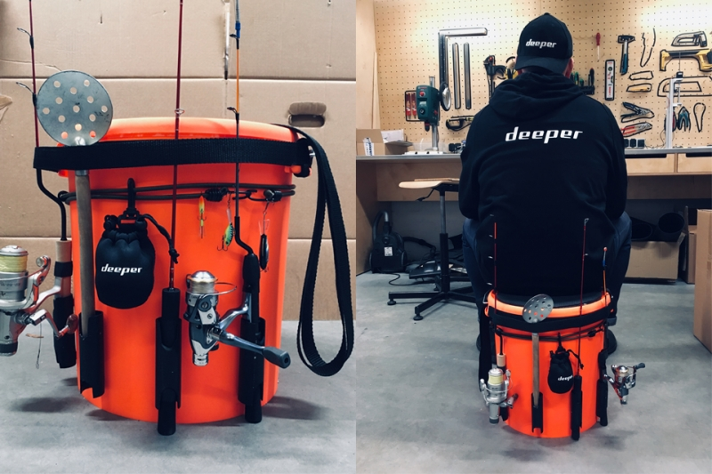 DIY Bucket for Ice Fishing