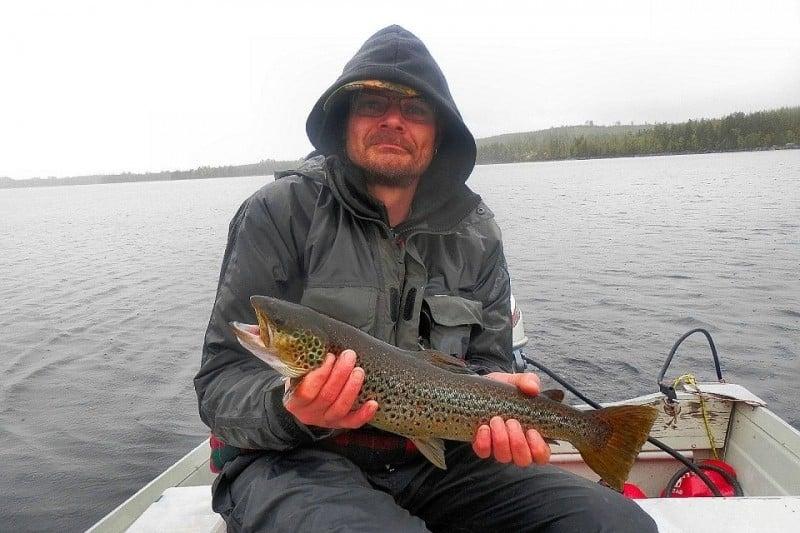 Brett utbud av möjligheter att fiska efter öring