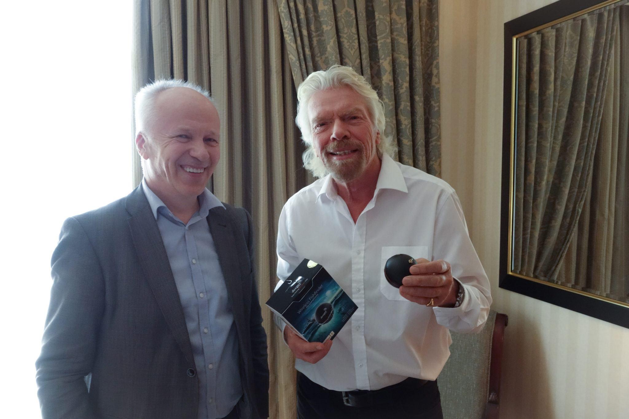 Deeper Fishfinder Managed To Reach Even Sir Richard Branson