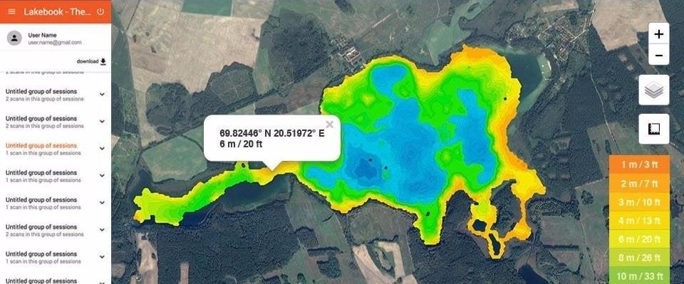 Представляем, менеджер данных карт водоёмов — Deeper Lakebook