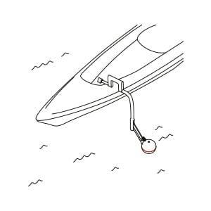 Эхолот можно буксировать или положить в лунку при зимней рыбалке для сканирования водоема