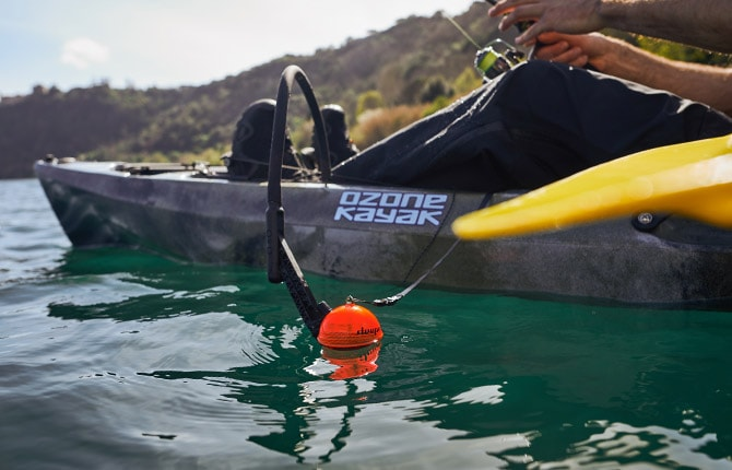 Flexarm kayak mounting