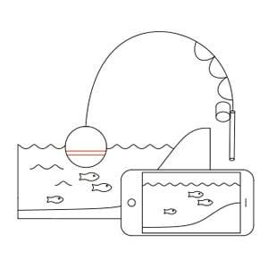 Śledź ryby, głębokość, ukształtowanie dna itp. na żywo na aplikację Deeper