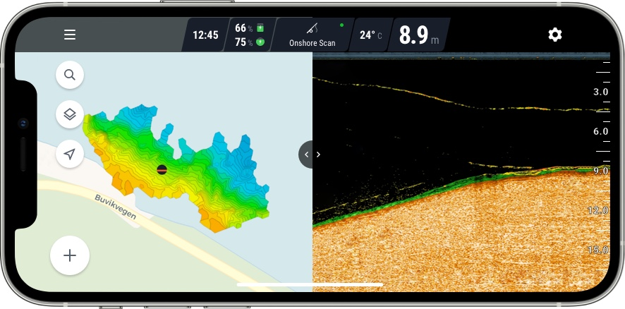 fish finder app display