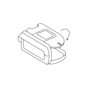 Наложите изоляционную панель и затяните ремень с застежкой-липучкой, чтобы закрепить телефон.
