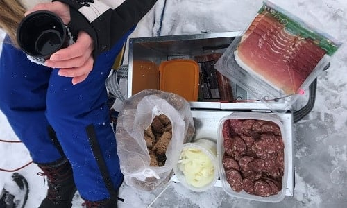 Food for ice fishing