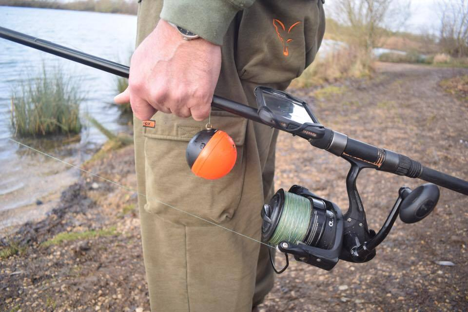 Rod with Deeper fishfinder